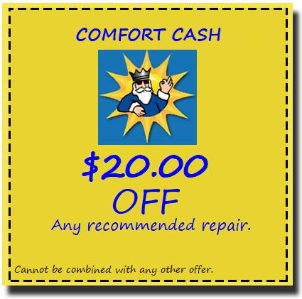 COMFORT CASH COUPON
